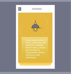 light mobile vertical banner design design vector image