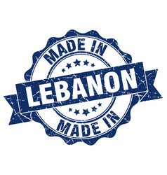 Made in lebanon round seal vector