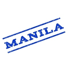 Manila Watermark Stamp vector