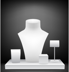 Mannequins for jewelries vector