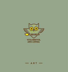 Owl logo art vector