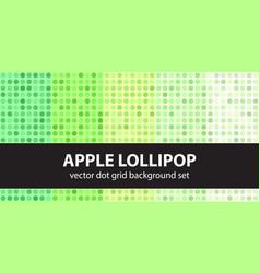 Polka dot pattern set apple lollipop seamless vector