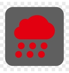 Rain Cloud Rounded Square Button vector