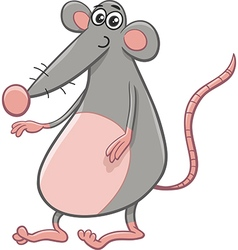Rat or mouse cartoon animal vector