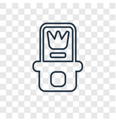 relics concept linear icon isolated on vector image