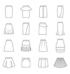 Set of skirts vector