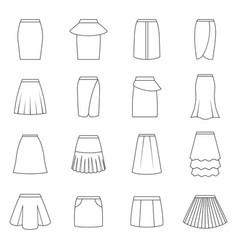 Set skirts vector
