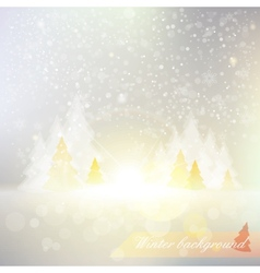 shiny winter background vector image