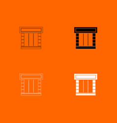 Shopfront icon vector