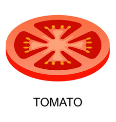 sliced tomato icon isometric style vector image