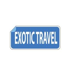 Sticker exotic travel vector