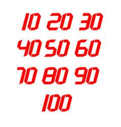 Tens number set template design vector