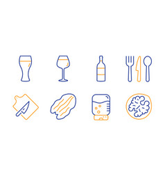 Water cooler wine bottle and bordeaux glass icons vector