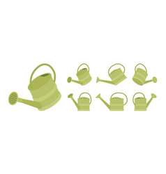 watering plastic can in green color vector image