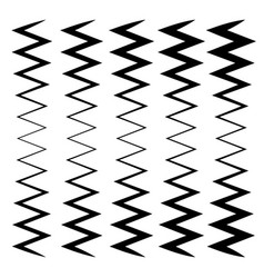 Wavy zig-zag lines - thinner and thicker versions vector