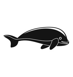 whale icon simple style vector image