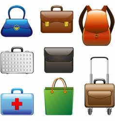collection bags vector image vector image