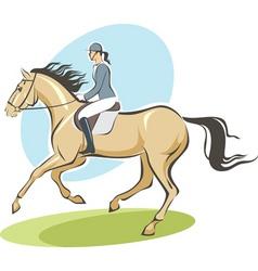 jockey on a horse vector image