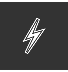 Thunder Icon logo element for template vector image