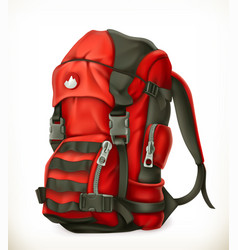 tourist backpack 3d icon vector image vector image