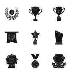 awards gold medals and cups as prizes in vector image vector image