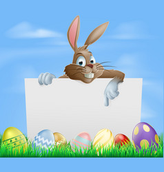 chocolate easter eggs sign vector image vector image