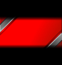 red abstract metal background vector image vector image