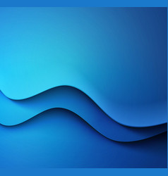 Abstract colorful blue waved background vector image