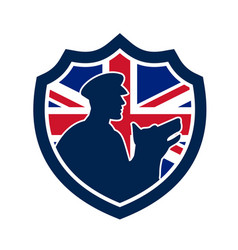 british police canine team crest icon vector image