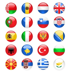 europe flags buttons part one vector image