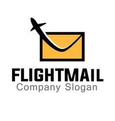 Mail Flight Design vector image vector image