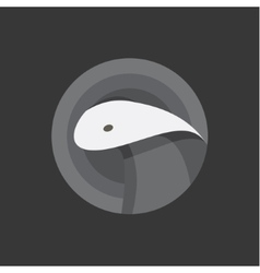 Snake cobra animal into flat vector image