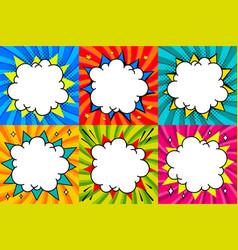 speech bubbles set pop art styled blank speech vector image vector image