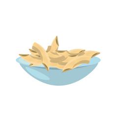 cereal dish milk breakfast vector image