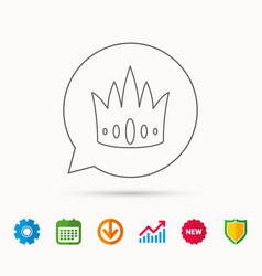 Crown icon royal king hat sign vector