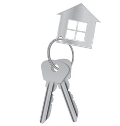 home keys with house token vector image