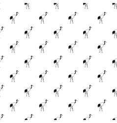 Japanese crane pattern simple style vector image