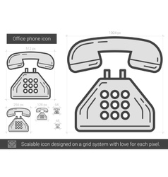 Office phone line icon vector