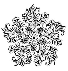 Abstract flower on white background vector