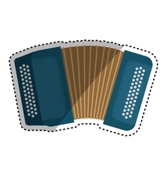 Accordion music instrument vector