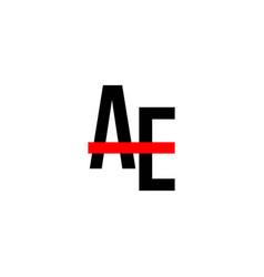 Ae logo template design vector