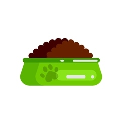 bottle of food for pets icon vector image