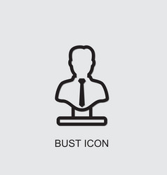 Bust icon vector