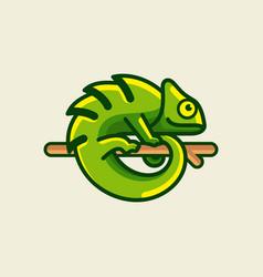 chameleon logo design vector image