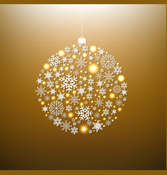 christmas gold ball vector image