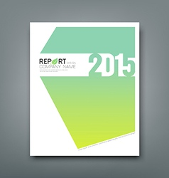 Cover Report number 2015 and eco green background vector