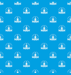 craft beer pattern seamless blue vector image