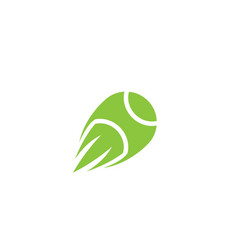 creative green speed tennis ball logo vector image