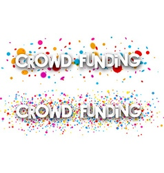 Crowd funding paper banners vector