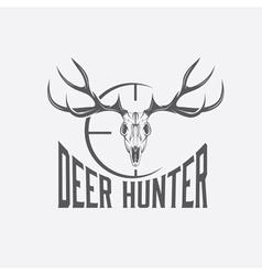 deer skull with target design template vector image